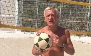 Didier Deschamps sur la plage