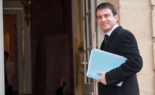 Manuel Valls à Matignon, le 11 février 2014.