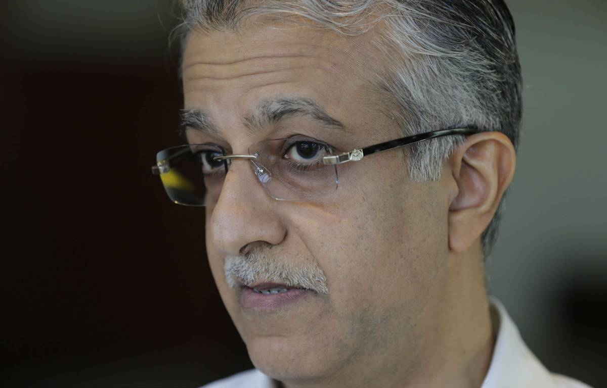 Le cheikh Salman, candidat à la présidence de la Fifa, le 13 novembre 2015.  – Hasan Jamali/AP/SIPA
