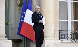 Le secrétaire général de l'Elysée, Pierre-René Lemas, sur le perron de l'Elysée, le 9 avril 2014 à Paris