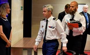 Lionel Lavergne, colonel et chef du Groupement de sécurité du Président de la République, à l'Assemblée nationale, mercredi.