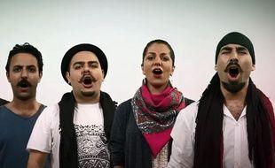 Le Groupe Ajam pour le clip Gole Iran