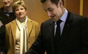Nicolas Sarkozy a voté dans le VIIIe arrondissement de Paris.