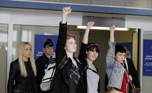 Trois membres des Femen à Paris le 27 juin 2013.