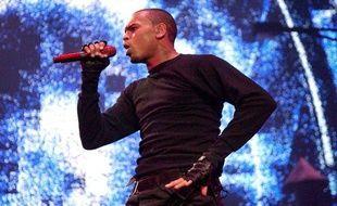 Le chanteur Chris Brown lors d'un concert à Amsterdam, aux Pays-Bas, le 16 janvier 2009.
