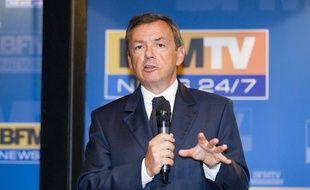 Alain Weill lors de la conférence de presse de rentrée de BFMTV, le 28 août 2013.