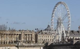 Paris le 28 janvier 2013. Illustration rive droite. Place de la Concorde et grande roue.