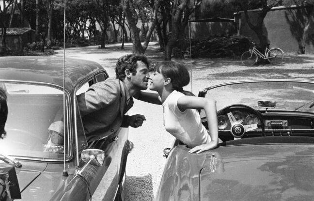 Jean Paul Belmondo et Anna Karina F dans Pierrot le fou de Jean-Luc Godard