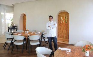 Le chef Mauro Colagreco dans son restaurant de Menton