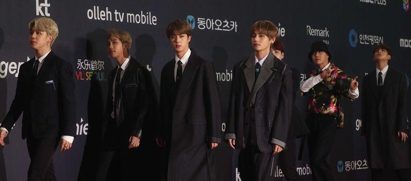 Le groupe sud-coréen BTS à Séoul, le 6 novembre 2018.