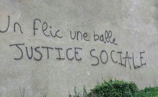Le tag a été inscrit sur le mur du restaurant universitaire attenant à Sciences Po Rennes.