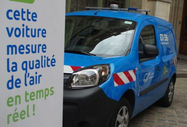 Paris, le 22 mai 2017. Le groupe Enedis va équipe sa flotte de 300 capteurs de particules fines.