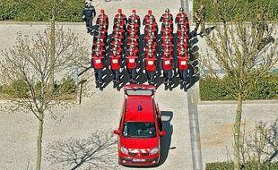 Les pompiers nordistes s'entraînent au défilé pour la Fête nationale.