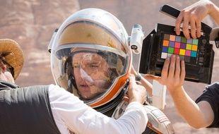 Matt Damon sur le tournage de