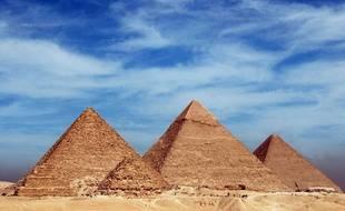 Les pyramides de Gizeh, en Egypte.