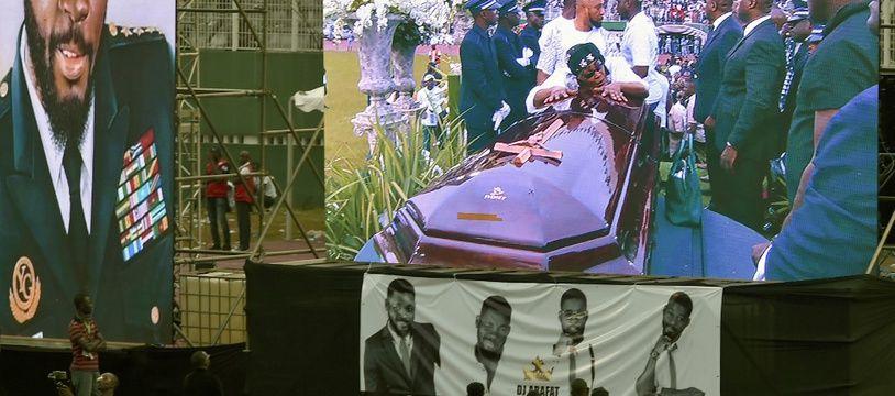 Les funérailles de DJ Arafat, le 31 août 2019 au stade Felix Houphouet-Boigny d'Abidjan.