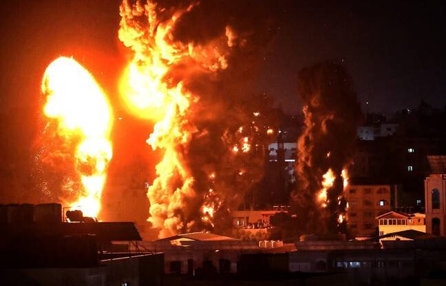 648x415 armee israelienne lance serie frappes gaza 17 mai 2021