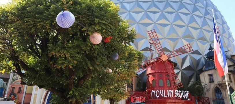 Inauguration du Cancan coaster dans le quartier français à Europa Park en Allemagne sur le thème du Moulin Rouge et de Valerian de Luc Besson. Le 12 09 2018.