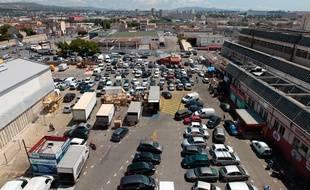 Marseille le 5 juin 2013 - Le marché aux puces des arnavaux fait partie du périmètre d ' euromed 2
