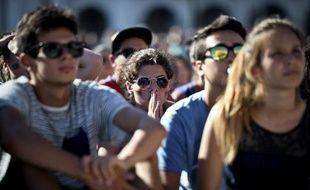 De jeunes supporters de l'équipe du Portugal au Mondial de Football au Brésil, le 26 juin 2014