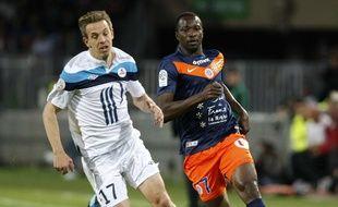 L'attaquant John Utaka sous le maillot de Montpellier.