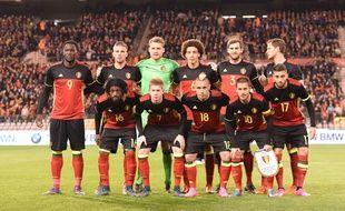 La sélection belge avant le match contre l'Italie le 13 novembre 2015.