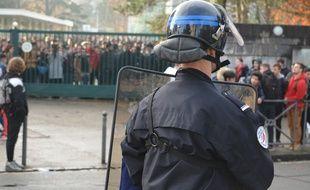 Photo d'illustration d'un blocage de lycée, ici celui de Branly, mardi à Lyon.