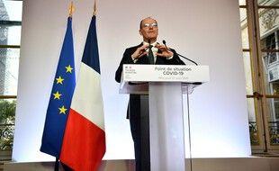Le Premier ministre Jean Castex lors de sa conférence de presse à Matignon le 27 août 2020.