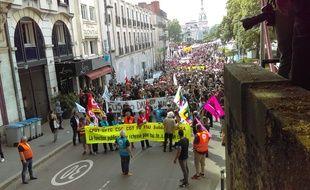 Manifestation pour la défense de la fonction publique à Nantes le 22 mai 2018.