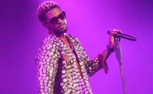 Le chanteur Usher sur la scène du North Sea Jazz Festival 2017 à Rotterdam