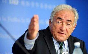 Le directeur du FMI, Dominique Strauss-Kahn, lors d'une conférence de presse à Istanbul, le 2 octobre 2009.