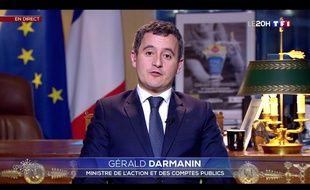 Gérald Darmanin sur TF1 le 31 mars 2020.