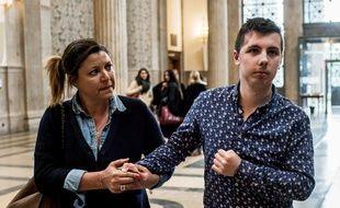Marin, jeudi, lors de son arrivée à la cour d'assises des mineurs du Rhône.