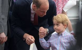 Le prince George et son père, le prince William.