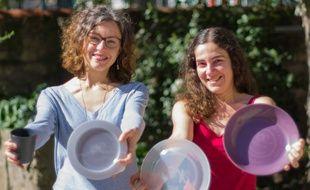 Objectif zéro déchet pour Clémence Hugot (à gauche) et Adeline Lefebvre.