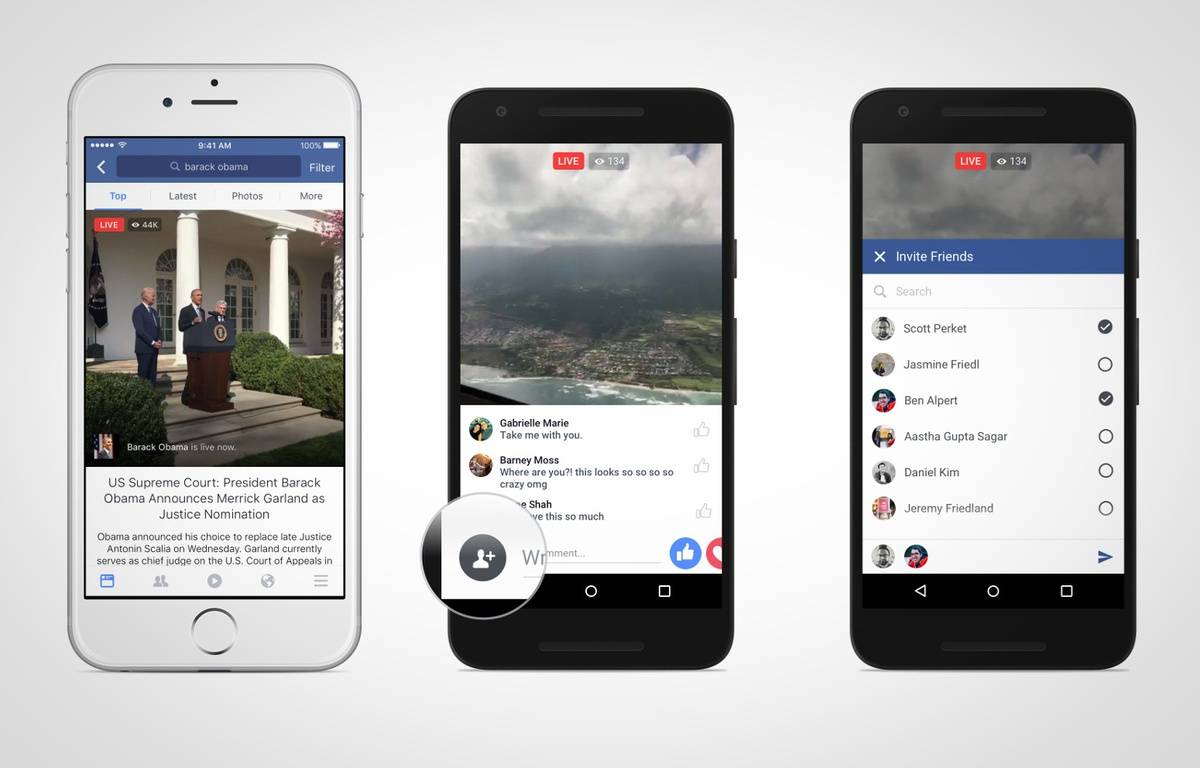 Live Video, sur Facebook, permet de diffuser des vidéos en direct. – FACEBOOK