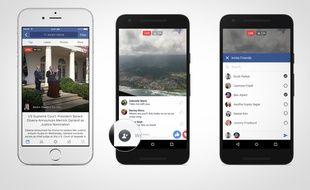 Live Video, sur Facebook, permet de diffuser des vidéos en direct.