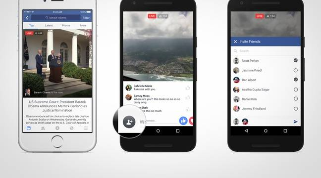 Sur Facebook, Live Video permet de diffuser des vidéos en direct. – FACEBOOK