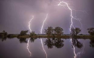 De violents orages doivent de nouveau toucher les départements de l'est de la France avant de se diriger vers l'Allemagne dans la nuit de jeudi à vendredi. Illustration