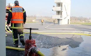 Illustration de pompiers en exercice, ici à Rennes.