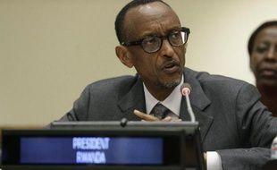Le président rwandais Paul Kagame à New York le 26 septembre 2014