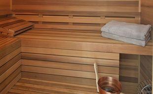 Un sauna. (Illustration)
