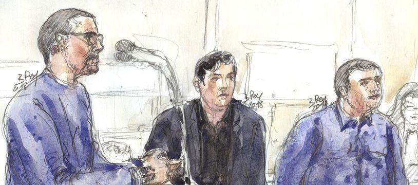 Les trois accusés au procès sur la mort de Clément Méric