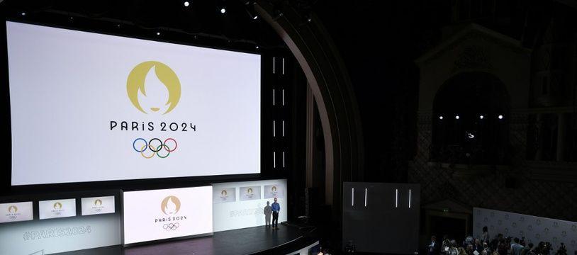 Au cinéma le Grand Rex, le 21 octobre, pour la présentation du futur logo des JO Paris 2024.