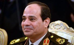 Le maréchal Abdel Fattah al-Sissi le 13 février 2014, à Moscou, lors d'une rencontre avec le ministre de la Défense russe.