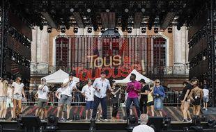 Mardi, sur la place du Capitole, lors des répétitions du concert de la Fête de la musique de France 2.