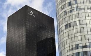 La tour Areva le 1er avril 2015 à La Défense, près de Paris
