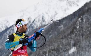 Martin Fourcade le 20 janvier 2018 à Antholz.