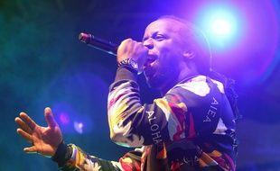 Youssoupha en concert à Marseille le 1er octobre 2015.