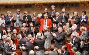 Retour triomphal parmi ses collègues pour le député-maire PS de Denain.